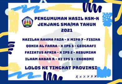 Pengumuman Hasil KSN-K SMA/MA Tahun 2021